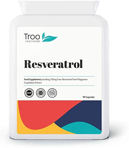 Resveratrol Supplement (150mg) - 90 Capsules | UK Manufactured to GMP code of practice
