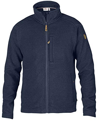 FJÄLLRÄVEN Herren Buck Fleece Fleecejacke, Dark Navy, XL