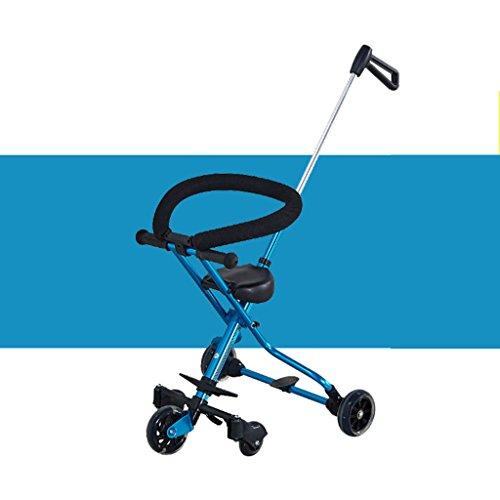 MuMa Landaus avec Baby Out Baby Ultralight Cinq Tours Peuvent être pliés Up Kids Trolley Ultralight Toy Car (Couleur : Bleu)