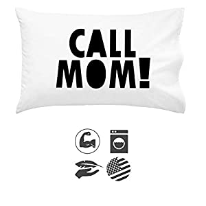 Oh, Susannah Call Mom Pillow Case Black Graduation Gifts for College Dorm Room Bedding Accessories for Girls or Boys Pillowcase Fits Standard or Queen Size Pillow
