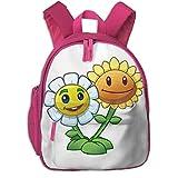 JKSA Bolso de Hombro para niños pequeños Mochilas para niños con Estampado de Girasol Gemelo para la Escuela