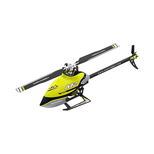 OMPHOBBY M2 V2 RC Helicopters Dual Brushless Motors RC Helicopter for Adults Direct-Drive 3D Remote Control Helicopter-BNF (Racing Yellow)