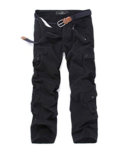 Hombre Cargo Pantalon Ocio Multifuncional Multi-Bolsillo Tipo Recto Camo Overoles Pantalones Aire Libre Tamaño Grande Pantalones Deportivos