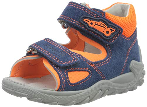 Superfit Baby Jungen Flow Sandalen, (Blau/Orange 81), 23 EU