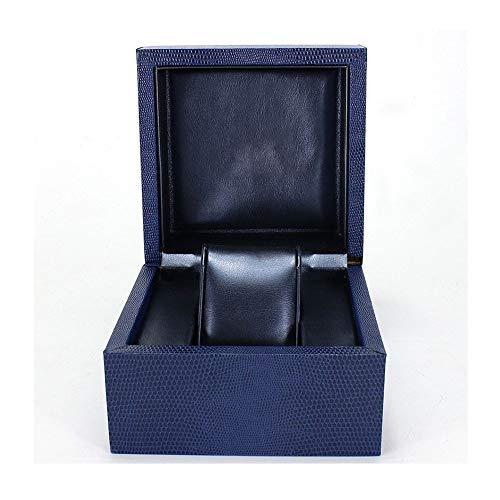 JLHBM 男子と女子シングルグリッドウォッチボックス腕時計ストレージボックス、宝石ストレージボックス人工レザーウォッチボックスは、ロゴをカスタマイズすることができます JLHBM