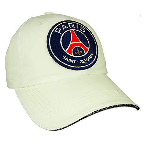 PSG - Casquette PSG Officielle - Taille réglable - Couleur : Blanc