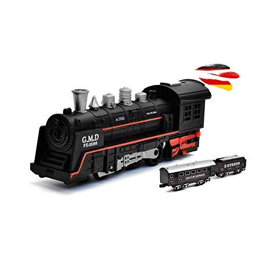 HSP Himoto, kit di avviamento per ferrovia elettrica, treno, locomotiva a vapore, simulazione del suono, modellino locomotiva