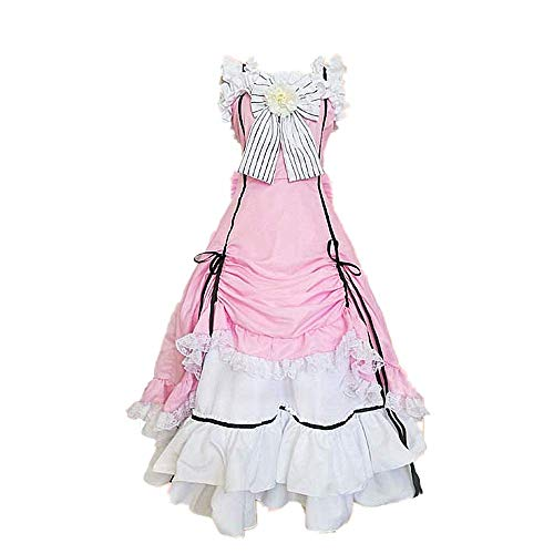 Cosplay Kostüm Halloween Maskerade Anime Schwarz Butler Ciel · Phantomhive Lolita Gothic Kleid Niedlicher Rock Anzug Mit Zubehör Optional Perücke Hohe Qualität