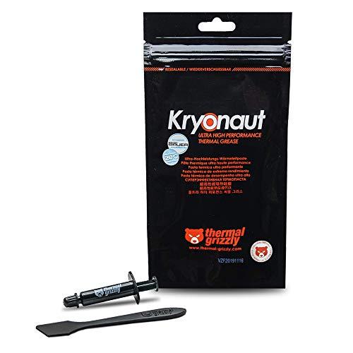 Thermal Grizzly - Kryonaut la pasta térmica de mayor calidad - Para enfriar todos los procesadores, tarjetas gráficas y disipadores de calor en ordenadores y consolas (1 Gramm)