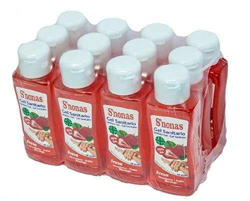 Gel Sanitario S´nonas Aromas 100 ml. Aroma Fresa. Pack 12 Uds