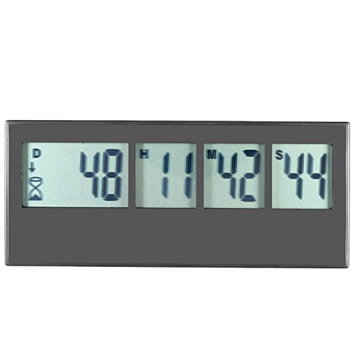 Anself Digital Küchentimer Eieruhr mit LCD Display Erinnerungsfunktion Countdown Max.999 Tag / 23H / 59M / 59S