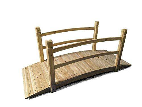SIAM EXPRESS Gartenbrücke aus Holz, begehbar, dekorativ, Teich, Bäche, Bordüren für den Außenbereich