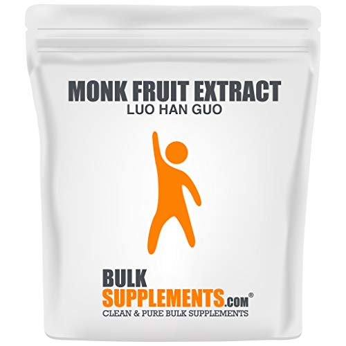 BulkSupplements.com Monk Fruit Extract (Luo Han Guo) Powder - Monk Fruit Powdered Sugar - Keto Powdered Sugar - Pure Monk Fruit (250 Grams)