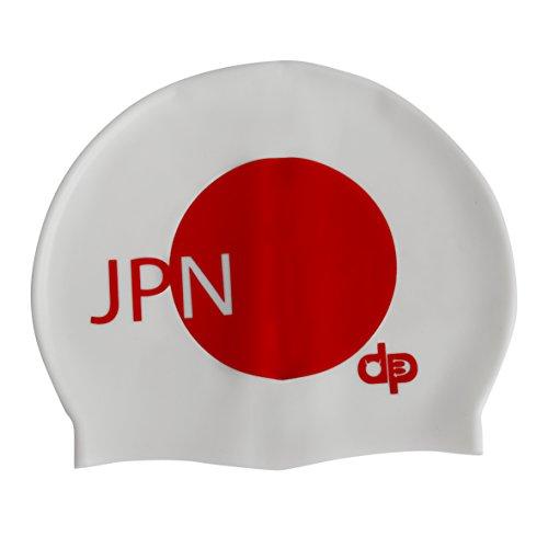 Diapolo Giappone cuffia da nuoto in silicone Nuoto dalla collezione Nazioni per nuoto sincronizzato Nuoto pallanuoto Triathlon