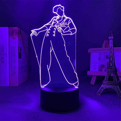 Lámpara de anime 3D 3D para niños 3D luz nocturna Harry ; estilo de regalo para los fanáticos dormitorio decoración luz LED sensor de color cambiante lámpara de escritorio Harry ; estilos