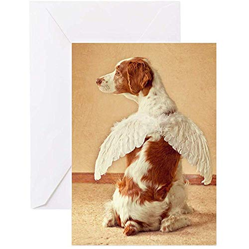 Mauspad, rutschfest, Bretagne Engel, Mauspad, Grußkarte, Grußkarte, Geburtstagskarte, blanko innen, matt, 24,8 x 29,5 cm