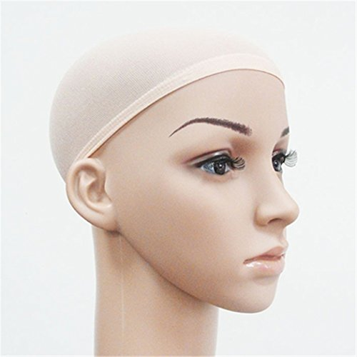 Livecity Lot de 2 perruques unisexes élastiques respirantes pour cosplay (nude)
