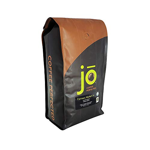 FARMERS MARKET JO: 2 lb, Organic Whole Bean Coffee, Light Medium Roast, USDA Certified Organic, NON-GMO, Fair Trade Certified, Gluten Free, Gourmet Coffee from Jo Coffee