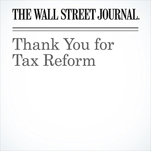 Thank You for Tax Reform copertina