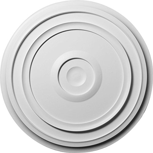 "Ekena Millwork CM24RE Traditional Reece Ceiling Medallion, 24 3/8""OD x 1 1/8""P (Fits Canopies up to 5 7/8""), Factory Primed"