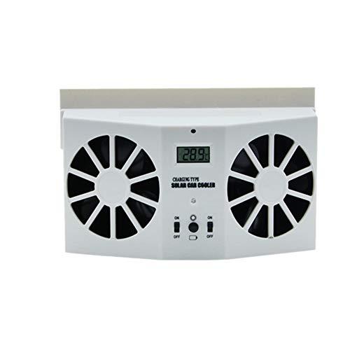 Cikuso Ventilador de Escape Solar Automotriz Radiador de VentilacióN de Aire Refrigerador para AutomóViles, Refrigeradores, Ventiladores de VentilacióN AutomáTica Blanco