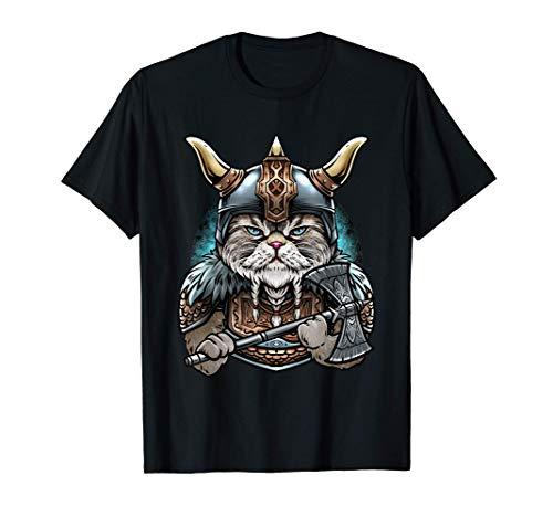 Gato Vikingo Camiseta