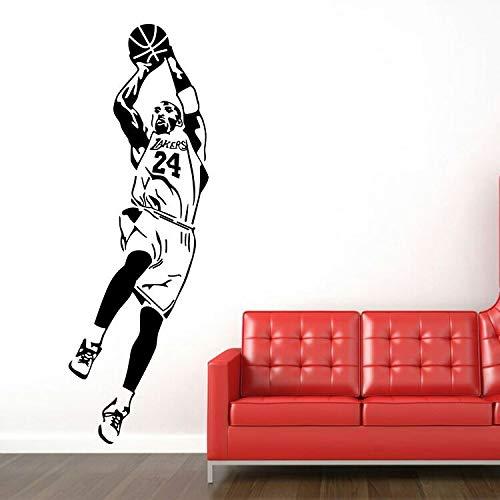 Pegatinas de pared, baloncesto estrella Kobe deportes pegatinas de pared vinilo arte de pared papel tapiz decoración del hogar Mural pegatinas de pared 100x33cm
