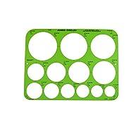 Westcott Jumbo Circles Geometric Template, 8-3/4 x 11-1/2 Inches