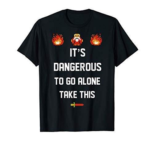 Legend Of Zelda It's Dangerous To Go Alone Take This T-Shirt