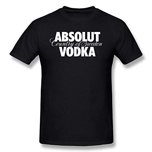 Men Men's Short Sleeved T-Shirt ABSOLUT Vodka Classic Black Short Sleeve