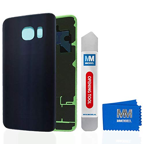 MMOBIEL Tapa Bateria/Carcasa Trasera Compatible con Samsung Galaxy S6 G920 5.1 Pulg. (Negro) Incl. Herramienta