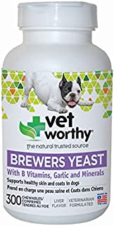Vet Worthy Brewers Yeast with Garlic Liver Flavored Chewables for Dogs (300 Count)