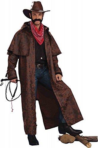 Mantel für Cowboy Herren Kostüm Tex Western Old Shatterhand Wildwest, Größe:3XL