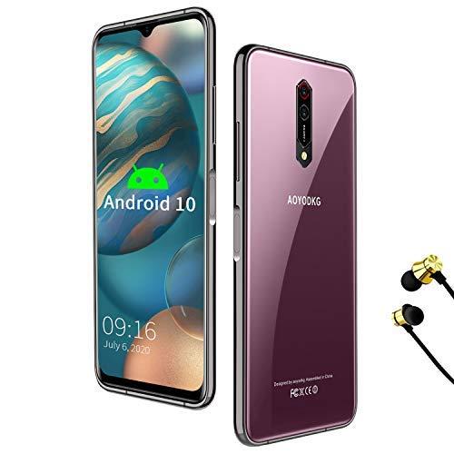 Smartphone Offerta, 6.52'' HD- IPS 19:9Waterdrop Schermo, 5G WiFi Octa-core 6GB RAM +64GB ROM/256GB, 4500mAh, Fotocamera 8MP + 16MP, 4G Android 10.0, Dual SIM-Rosso