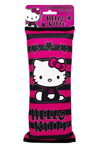 Hello Kitty KIT4049 - Almohada cojín XL infantil, cinturón coche, para viajes