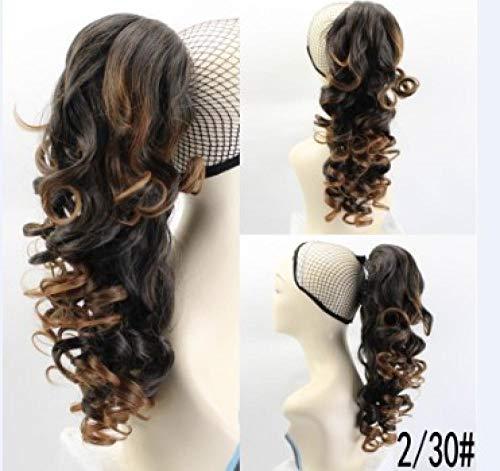 Perruque 24 Pouces Long Kinky Curly Ponytail Drawstring Hair Clip Résistant À La Chaleur Dans Les Extensions De Cheveux Naturel Faux Hair Tail-T1B / 3