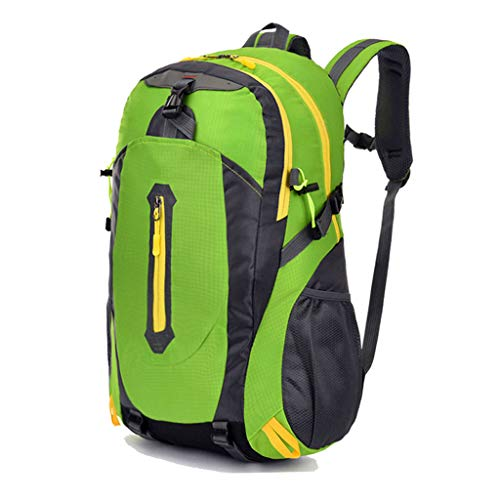 LTJLWB-backpack Sac à Dos en Plein Air RandonnéE LéGèRe Voyage en Nylon Porter Grande Capacité éTanche Anti-Vol Perte De Poids Hommes Et Femmes Vert 45l
