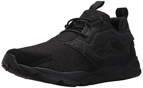Reebok Men's Furylite Refine Fashion Sneaker, Black/White, 8.5 M US