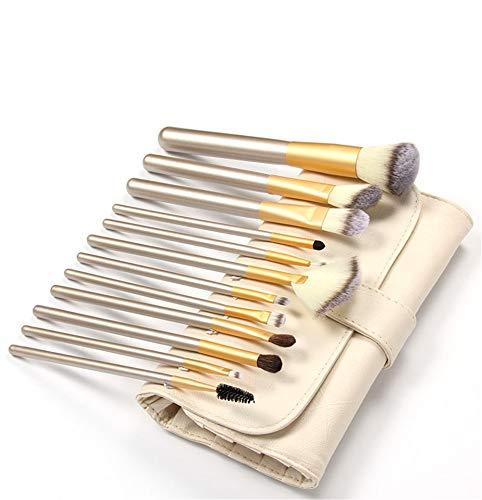 Set de pinceaux de maquillage 12 bâtons 18 bâtonnets de poils de poney poils de fondation pour animaux, fard à paupières brosse à lèvres, 12