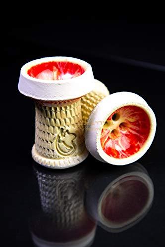 Dschinni® Schamottköpfe Nero Rojo (kompatibel mit Seflex) | Shisha | Hookah | Wasserpfeife | Kopf