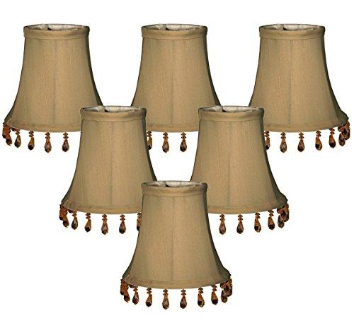 Royal Designs CS-313B-5AGL-6 lampenkap, klokvorm, antiek design, goudkleurig, 6 stuks