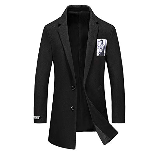 Blazer Männer Casual Trenchcoat Fashion Business Peaky Blinders Anzug Lang Schlank