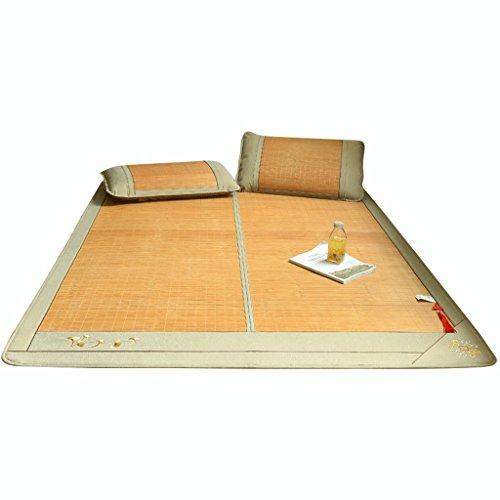 Tapis en bambou double face 1,8 m lit pliant 1,5 mètre Dortoir étudiant simple 1,2 Tapis climatisation été Trois ensembles de tapis (avec taie d'oreiller) 1 glace sans bavure 2 Duplex disponible 3 Auc