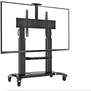 Xue Mobile TV Cart TV Stand With Wheels,Height Adjustable TV Base Stand,360° Degree Swivel,Furniture Flat Panel TV Stand And Entertainment Console,Home,Office,Classroom,Meeting Room,A