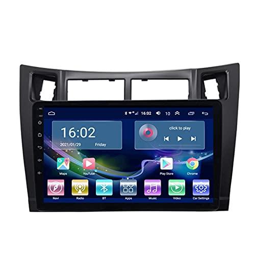 XXRUG Autoradio per Toyota Yaris 2008-2011 Radio Navigation Player Android 10.0 unità Principale con Carplay Touchscreen IPS da 10,1 Pollici BT/WiFi con Telecamera di Backup