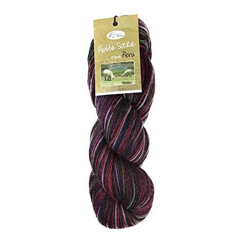 Rellana Flotte sok 4ply Peru, kleur 1310, 100 g wol handgeverfd van Peru, met merinowol en alpaca superfijne voor het breien van sokken of voor lakken