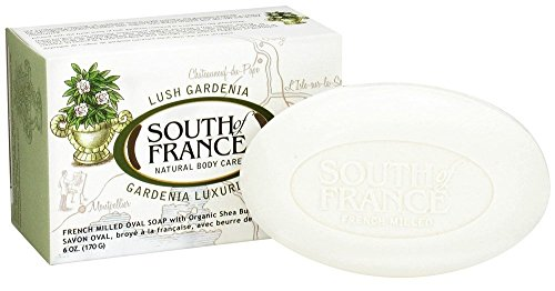 South Of France Milled Bar Soap, Gardenia, 6 Ounce by South of France