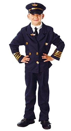 GUIRCA SL.- Disfraz infantil de Pilota de avión comandante de 5 a 6 años, color azul, 81381