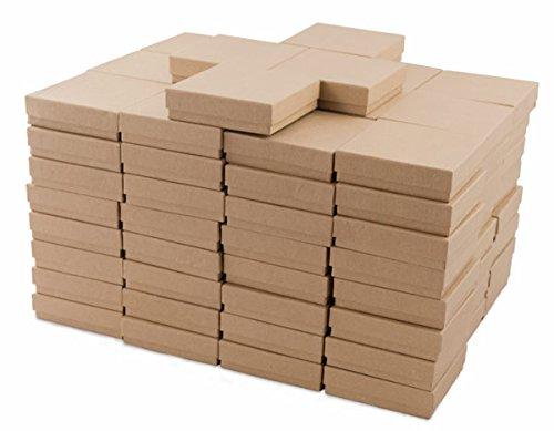Kraft Cotton Filled Jewelry Box #33 (Case of 100) (Original Version)
