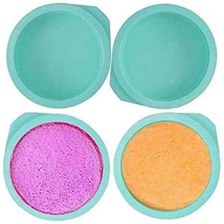ZSWQ Lot de 4 moules à gâteau Ronds en Silicone sans BPA 15 cm